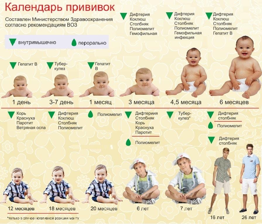 Какие прививки делать ребёнку